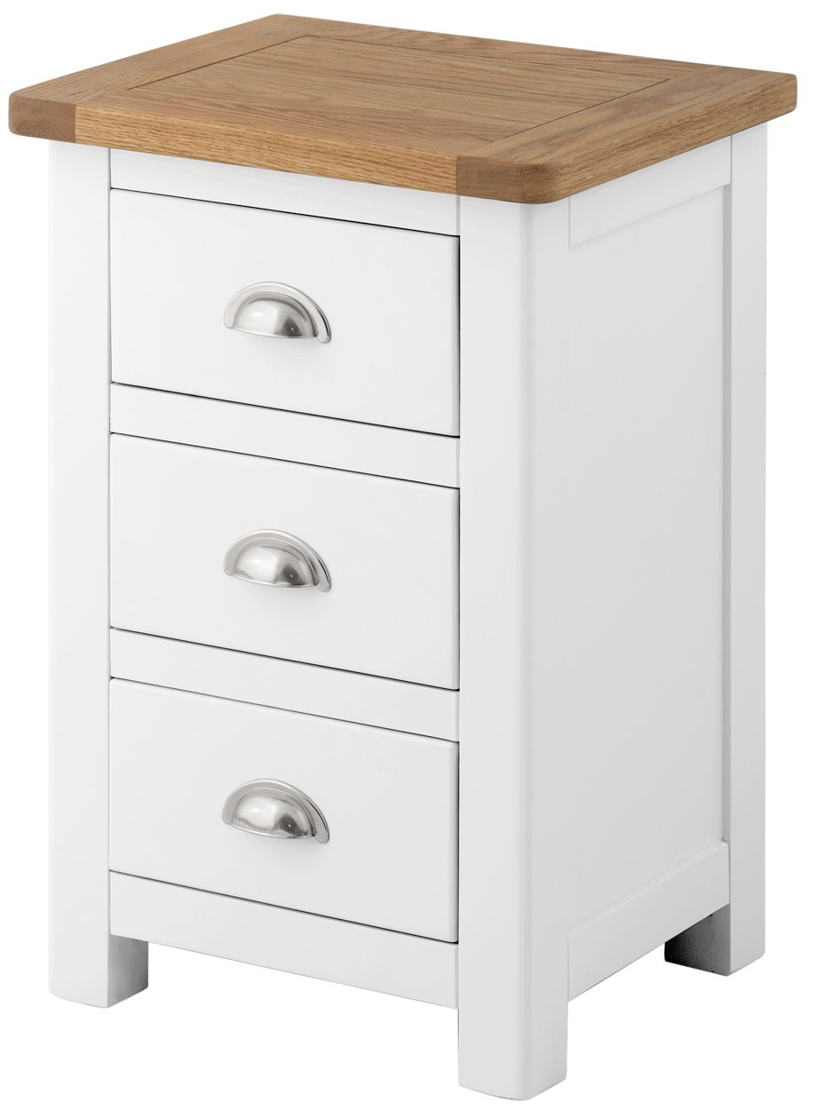 Tynedale White Bedside Cabinet   Fully Assembled